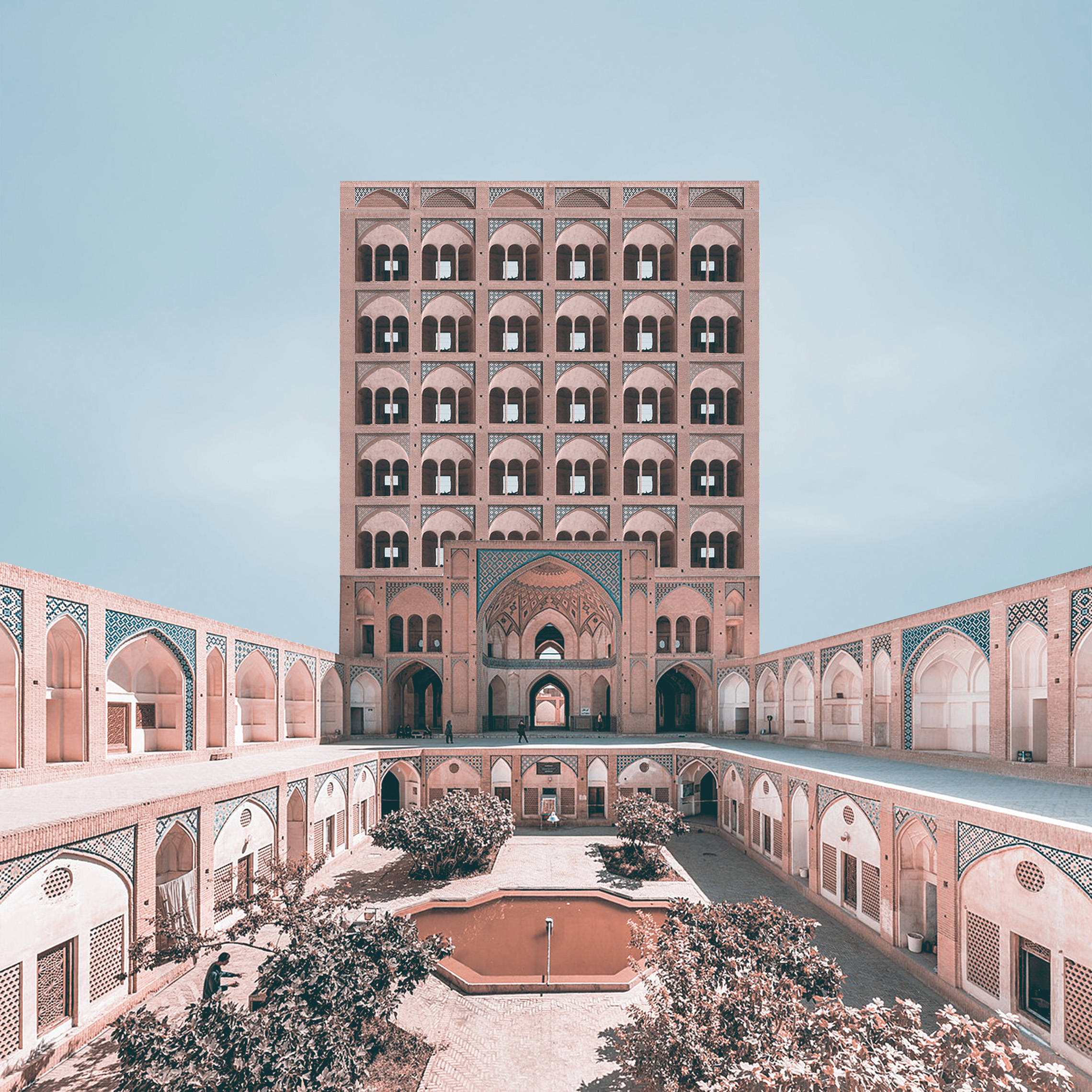 تجسم ساختمان های بلند مرتبه در معماری ایران