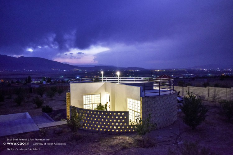 Snail Shell Retreat in Iran Small Modern House  1