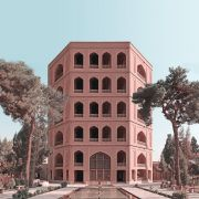 Retro futurism Iranian High rise Architecture Landmarks photomontage  13