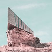 Retro futurism photomontage of Expanding Iranian Ancient Architecture with Western Contemporary Architecture  4