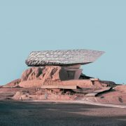 Retro futurism photomontage of Expanding Iranian Ancient Architecture with Western Contemporary Architecture  7