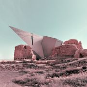 Retro futurism photomontage of Expanding Iranian Ancient Architecture with Western Contemporary Architecture  9