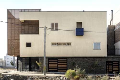 Blue cube house